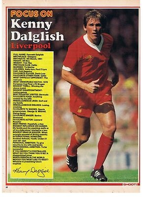 SHOOT Focus Liverpool KENNY DALGLISH old football magazine picture | eBay