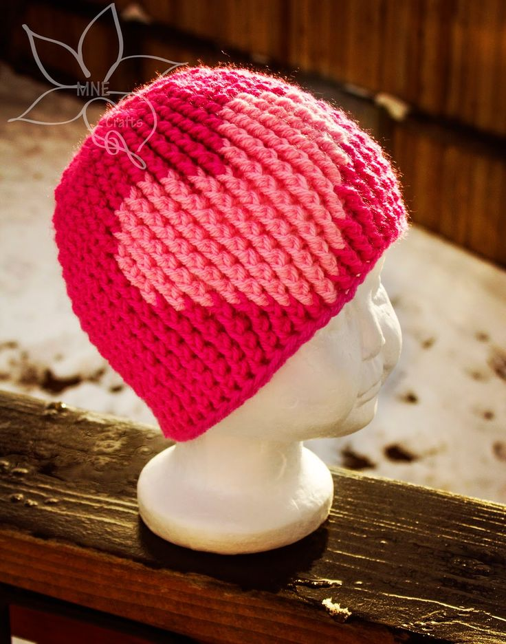 MNE Crafts: The Emy Collection - Emy's Beanie. ❤CQ #crochet #hearts #valentines