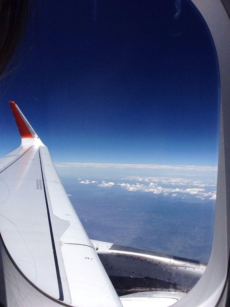 View from my plane on the way to Sydney, Australia via Jetstar :) x