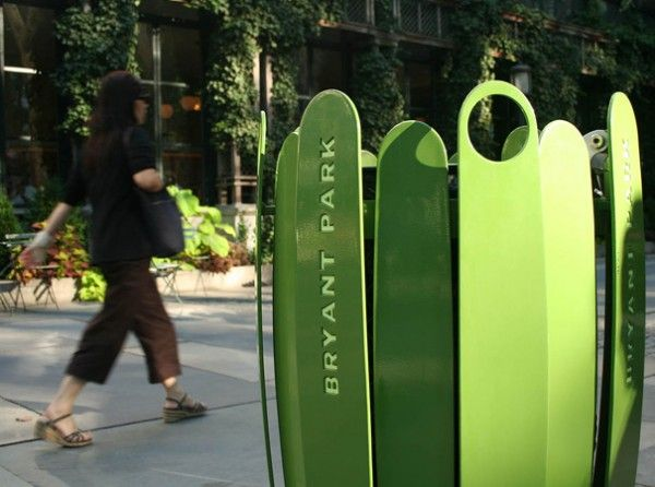 Bryant Park Litter Receptacles and Recycling Bins by Ignacio Ciocchini