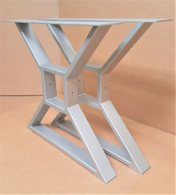 Modern Dining Table X Legs Model 009G Smooth Grinded By DVAMetal