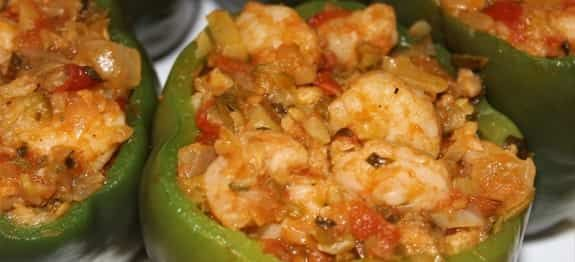 Shrimp Stuffed Peppers Recipe Stuffed Peppers Stuffed Bell Peppers Shrimp Seasoning