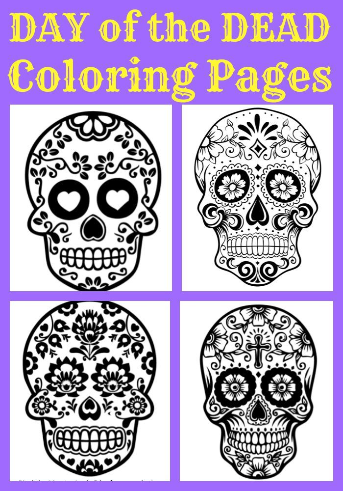 beautiful day of the dead sugar skull coloring pages for kids and adults great
