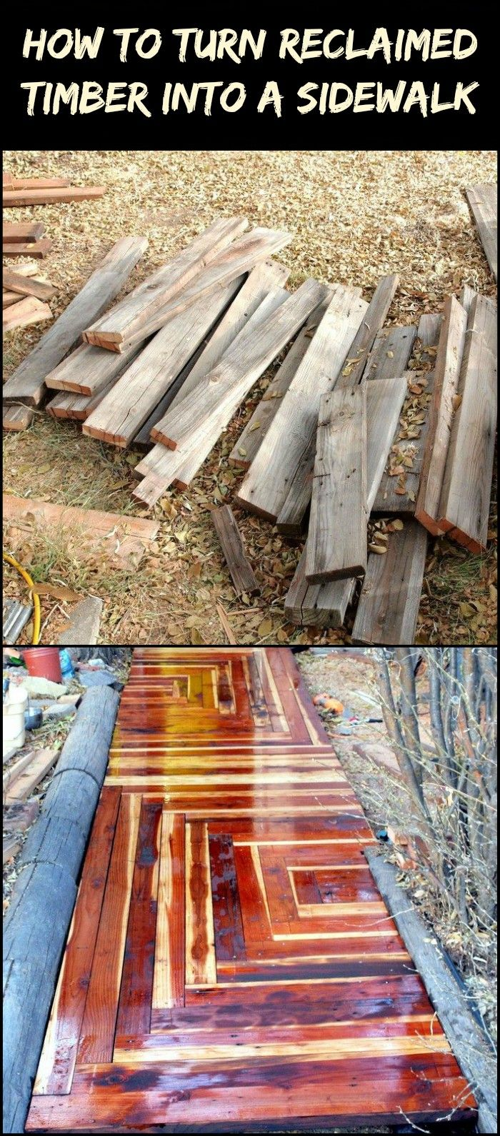 Tutorial: How to Build an Awesome Sidewalk With Recycled Lumber For Only $50.00