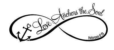 O Amor âncoras A Alma Decalque de parede arte citar as palavras Letras Decoração Casa De Diy pegajoso