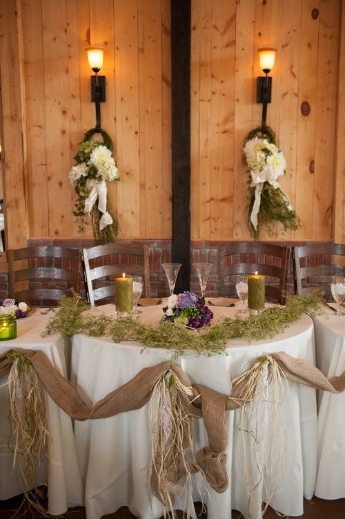 111 best wedding decorations images on pinterest events wedding shabby chic rustic wedding decoration white wpurple green accents junglespirit Image collections