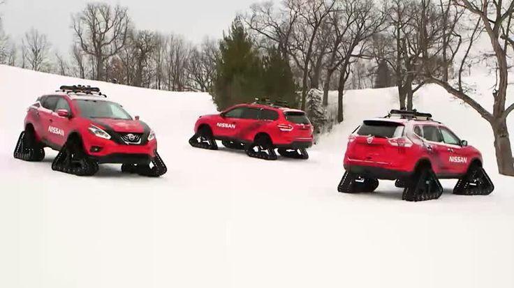 Remarqué pour ses chenilles implantées à la place des roues, le Rogue Warrior de Nissan a vu triple lors d'une excursion dans la poudreuse.  Pour la production de ce clip, le constructeur japonais a réuni trois exemplaires du Rogue Warrior. Ce concept dévolu à la descente des pistes de ski est basé sur le X-Trail.  A la place des roues, le Rogue Warrior est équipé de chenilles en caoutchouc Dominator mesurant 122 cm de long, 38 cm de large et 76 cm de haut.