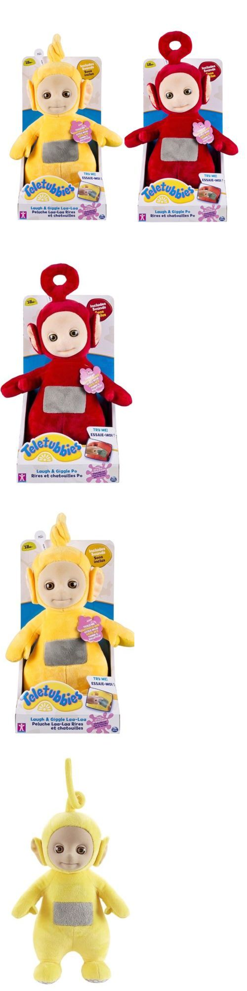 Teletubbies 756: 2 Teletubbies 10 Tickle Laugh And Giggle Stuffed Plush Po And Laa-Laa Red Yellow -> BUY IT NOW ONLY: $31.45 on eBay!