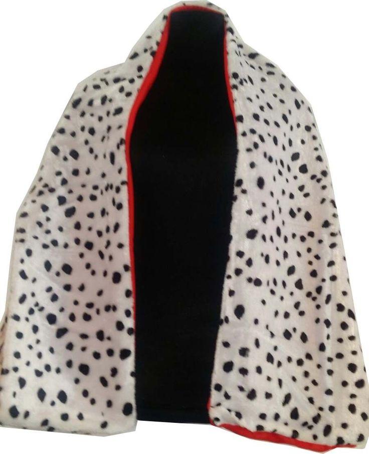 Cruella de ville 101 Dalmation fancy dress wig gloves boa shawl cig holder film | eBay
