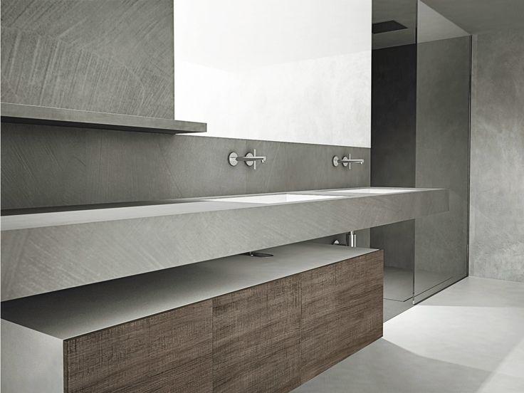 Móvel lavatório duplo em abeto com portas com espelho DOOR   Móvel lavatório duplo Coleção Door by Moab 80   design Gabriella Ciaschi, Studio Moab