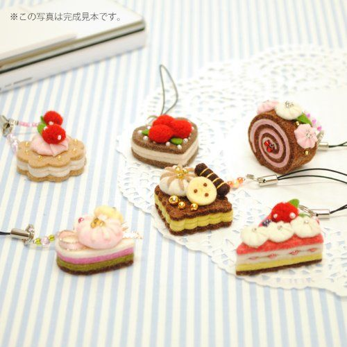 felt sweets cellphone charm straps