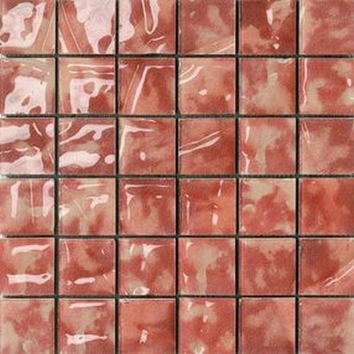 #Settecento #Musiva Rosso Rubino 4,5x4,5 on grid 28,6x28,6 cm 100414 | #Glas on ceramic | on #bathroom39.com at 196 Euro/sqm | #mosaic #bathroom #kitchen
