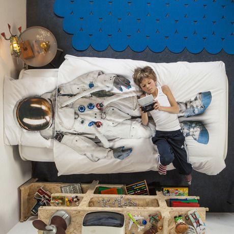 夢の中で宇宙飛行士になれる掛け布団&枕カバーセット - シングルサイズ   Monoco