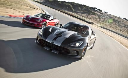 2013 SRT #Viper GTS vs. 2013 Chevrolet #Corvette #ZR1  The reborn Viper faces off against the current king of 600-plus-hp American sports cars.