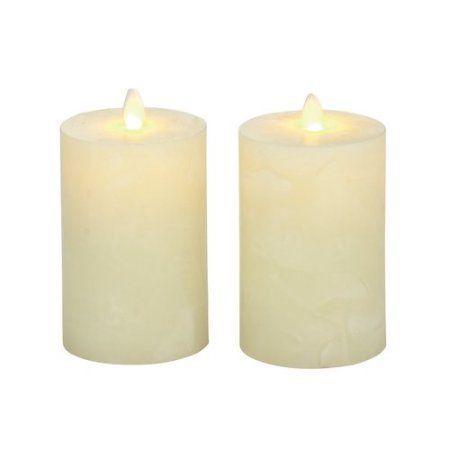 Decmode Flameless Candle with Remote, Set of 2, Multi Color, Multicolor