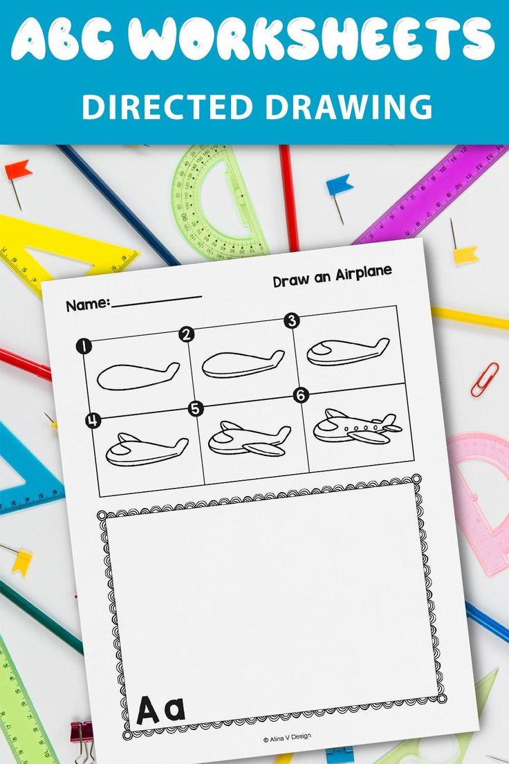 Alphabet Directed Drawing Kindergarten and First Grade for