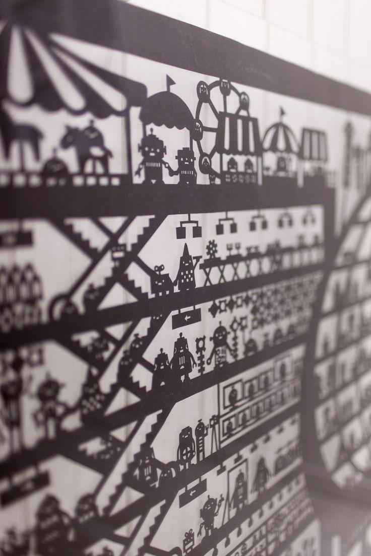 Paper cut illustration by Chihiro Takeuchi