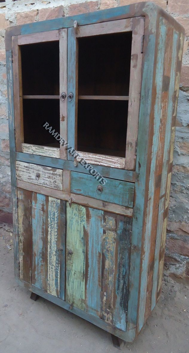 Indian Wooden Reclaimed Cabinet.