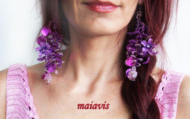 Chandelier Earrings – Earings, Oriental,Original ,Unique handmade – a unique product by maiavis on DaWanda