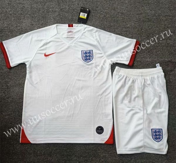 2019 2020 England Home White Soccer Uniform Soccer Uniforms England Football Shirt Kids Suits