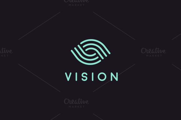 Vision eye logo by Bureau on @creativemarket