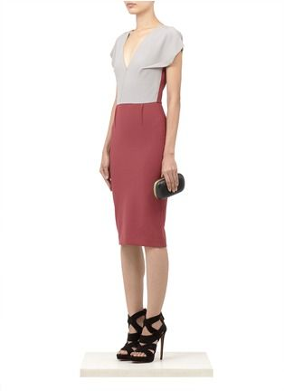 ROLAND MOURET - Afyon colour-block wool-blend dress - on SALE | Multi-colour Work Dresses | Womenswear | Lane Crawford