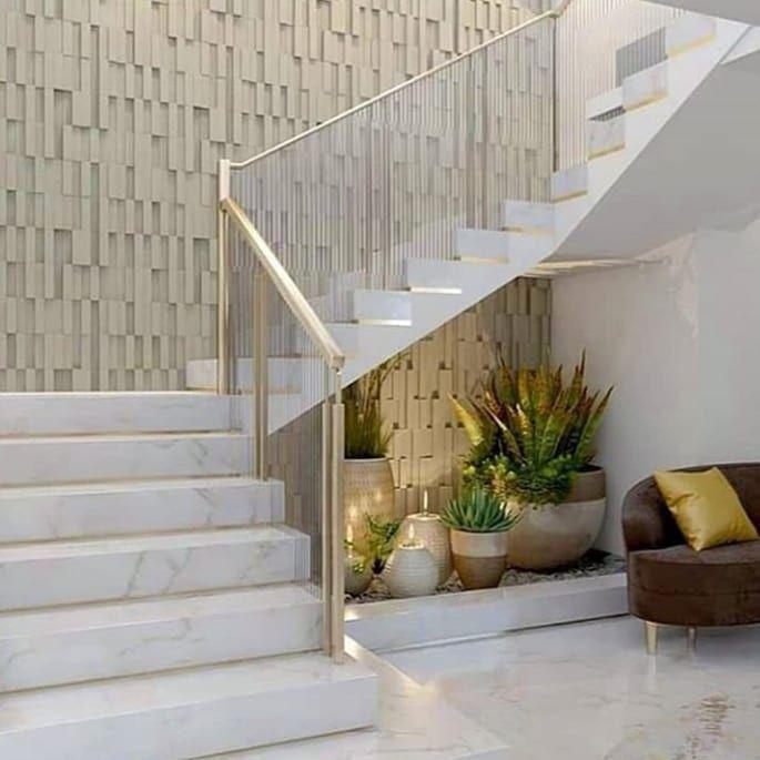 Criatividade E Estilo On Instagram Sofisticacao E Elegancia Definem Este Espaco Post Via Criatividade Luxury Staircase Stairs Design Modern Staircase Decor