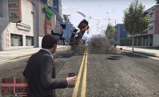 Des Samsung transformés en grenade dans un «mod» de «GTA 5».