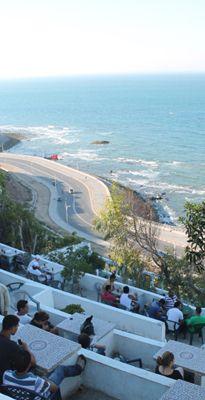Café Hafa en escalier à Tanger
