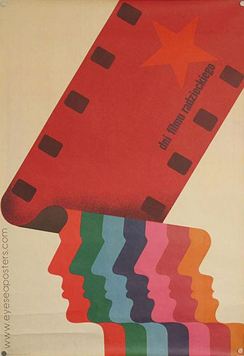 Polish film poster - LOVE THE BRIGHT COLORS AND STYLE OF THIS FOR A POSTER, IF WE COULD DO A VERSION WITH PATRIOT FACES INSTEAD