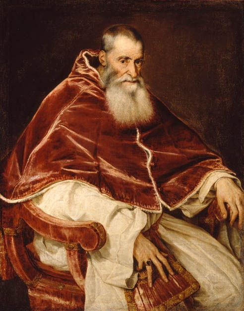 a look into the life of alessandro farnese pope paul iii Cardinal alessandro farnese seniore, who became pope paul iii in 1534, was born in canino, a small town in northern latium the farnese had several possessions in the area and they acquired other fiefdoms in order to form a continuous territory from the tyrrhenian sea to lake bolsena.