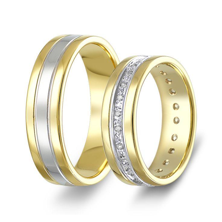 ΒΕΡΕΣ ΔΙΧΡΩΜΕΣ : Βέρες Γάμου Δίχρωμες κωδ. σχ.746