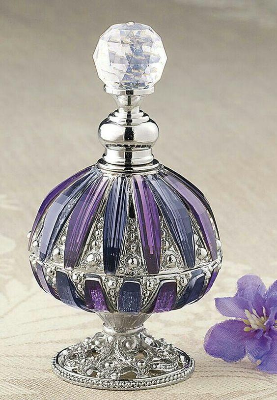 Purple Crystal Perfume Bottle