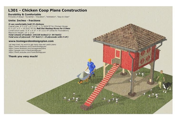 home garden plans: L301 _ Chicken Coop Plans Construction - Roll Out Nest Boxes - How To Build A Chicken Coop