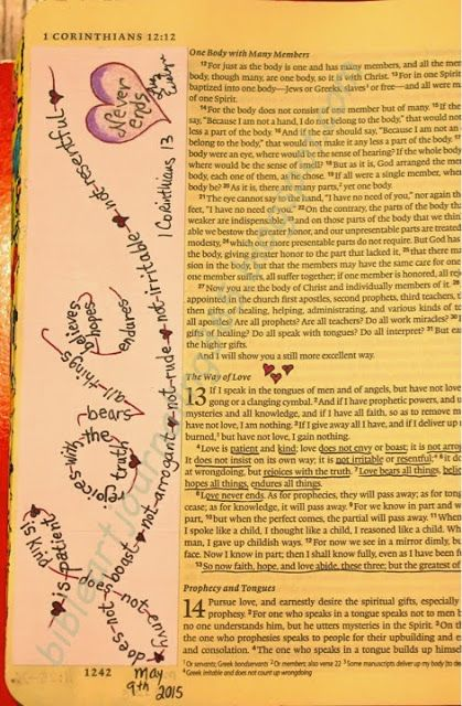 Easy Bible Art Journaling Journey: 1 Corinthians 13 (May 9th)
