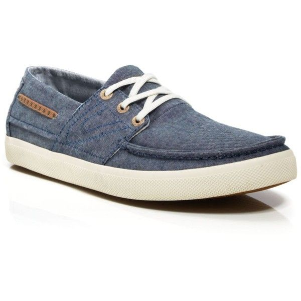 Tretorn Otto Chambray Boat Shoe Sneakers ($75) ❤ liked on Polyvore featuring men's fashion, men's shoes, men's sneakers, stellar blue, sperry top sider mens shoes, mens deck shoes, mens boat shoes, tretorn mens shoes and mens blue sneakers
