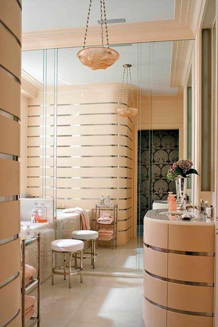 Art Deco Bathroom - Better Home and Garden -  http://www.betterhomeandgarden.org/3499/art-deco-bathroom-style/pretty-art-deco-bathroom/