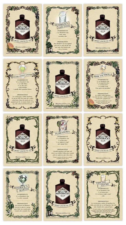Hendricks Gin drink Recipies, Gnome Sweet Gnome, FloraDora, Tippling Thyme... Make them ALL