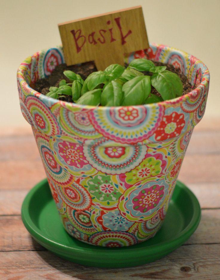 Pretty herb pot