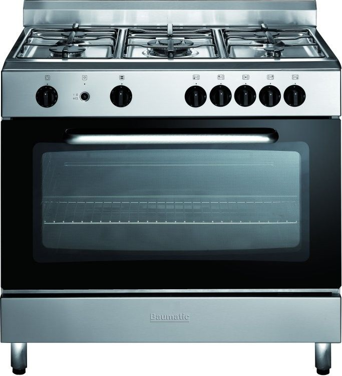 Baumatic BC190.2TCSS Gas Range Cooker - Introducing the Baumatic 90cm range cooker which comes in a stylish stainless steel finish and offers a wide variety of different features including an electric grill and gas cooking. Product: Brand:  http://www.MightGet.com/february-2017-2/baumatic-bc190-2tcss-gas-range-cooker-.asp