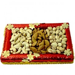 Sending dry fruits is the very good gifts idea for different occasions. Whether it's a religious festival or regional, dry fruits can be sent on every occasion. The crunchy, munchy, crispy dry fruits are also ideal as your breakfast snacks. Send dry fruits to the recipients in India if you are staying in another country abroad. We have an astonishing collection of dry fruits, dry fruits hampers, dry fruit thali, dry fruit potli, dry fruit bowls, dry fruit gift boxes to send in India.