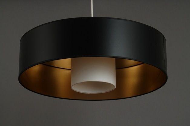 Deckenlampen - Hängelampe schwarz / gold Kabuki - ein Designerstück von LichtscheuBerlin bei DaWanda