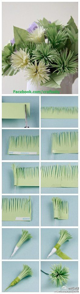 fleures en papier