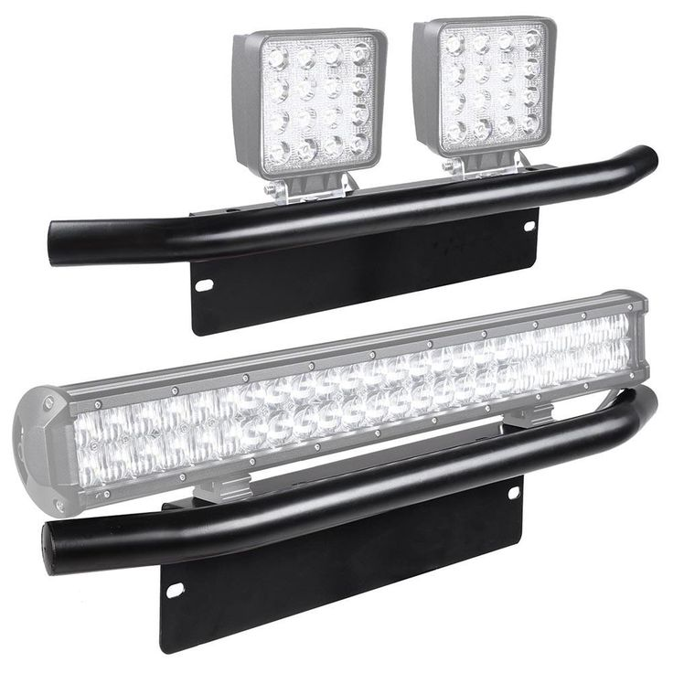 23-Inch Front Bumper License Plate Bracket Off-road Light Bar