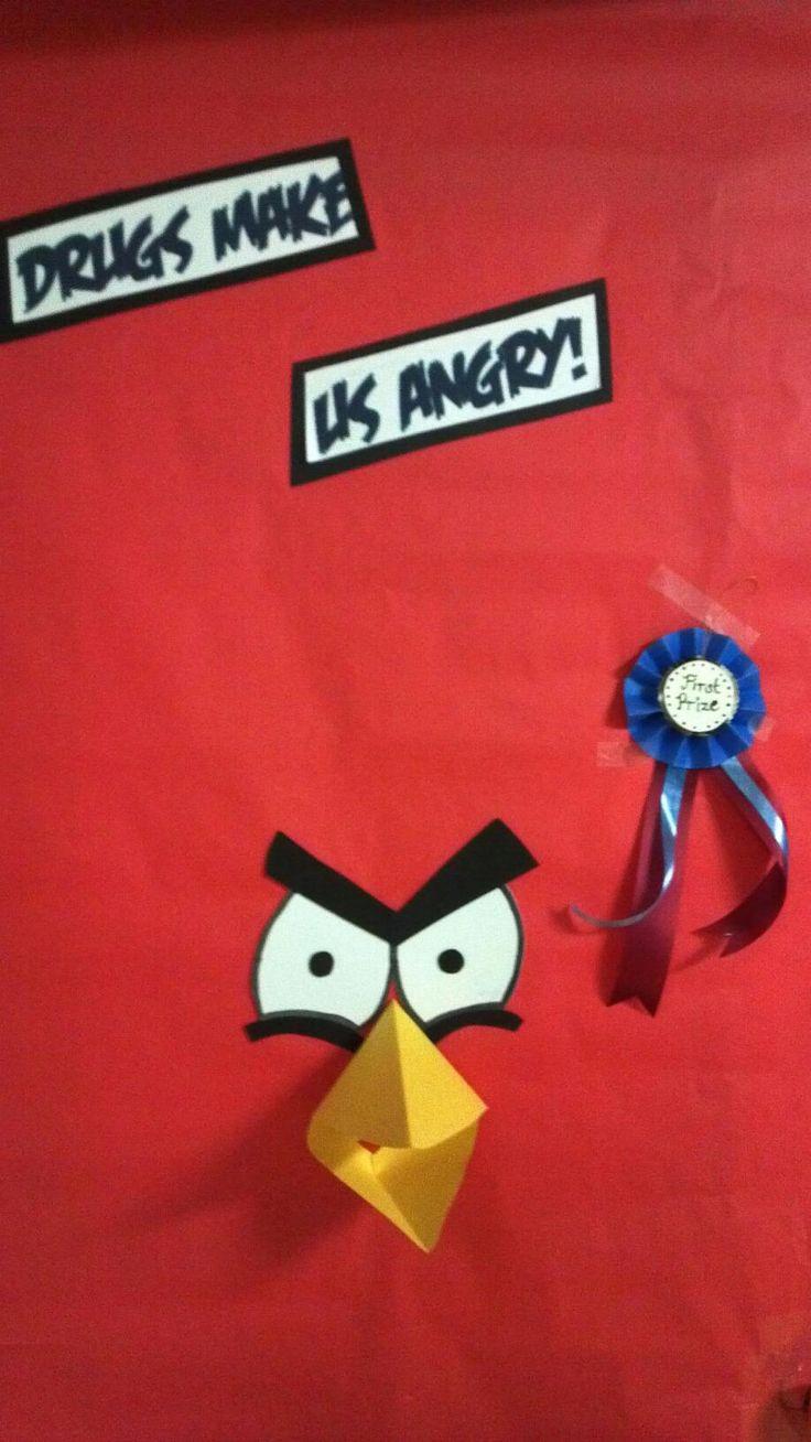 Red ribbon week door---This is MINE CES ladies!! lol