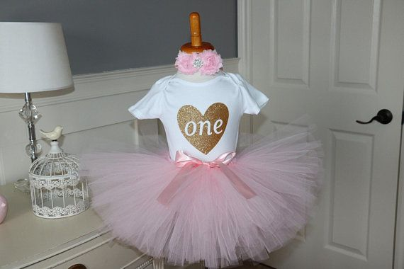 Pink and Gold Tutu With onesie