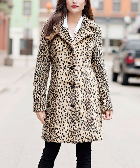2e661ed1f4b7 Donna Salyers Fabulous-Faux Furs Tan Leopard Faux Fur Tailored Coat - Women    Plus
