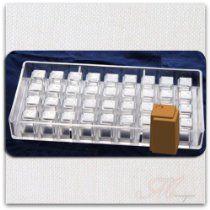 www.chocolatemoldfactory.com  Square Prism Polycarbonate Chocolate Mold