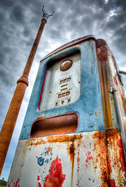 HDR gas pump photo I took in the middle of Michigan.