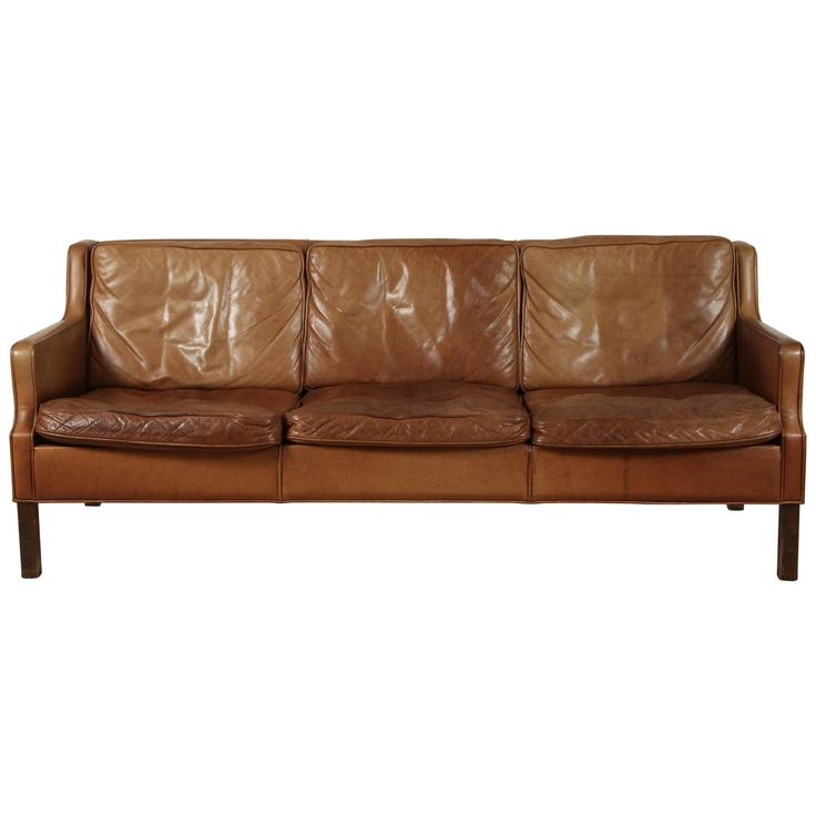 Saddle Leather Sofa by Børge Mogensen | From a unique collection of antique and modern sofas at https://www.1stdibs.com/furniture/seating/sofas/